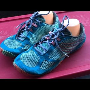 Merrell Pace Glove 3 Teal Blue Sneakers Size 11